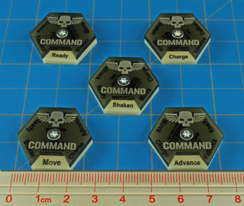 LITKO Command Dials compatible with WH:KT, Ivory & Translucent Grey (5) - LITKO Game Accessories