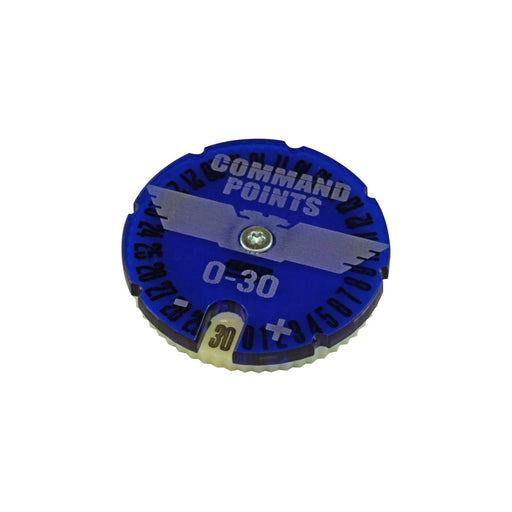LITKO Command Points Dial #0-30 compatible with WHv9, Translucent Blue & Ivory - LITKO Game Accessories