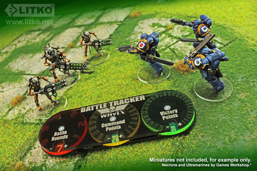 LITKO Battle Tracker compatible with Whv9, Multi-Color - LITKO Game Accessories