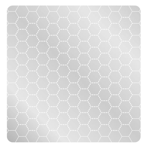 LITKO 1-Inch Hex Grid Stencil, Dot Pattern - LITKO Game Accessories