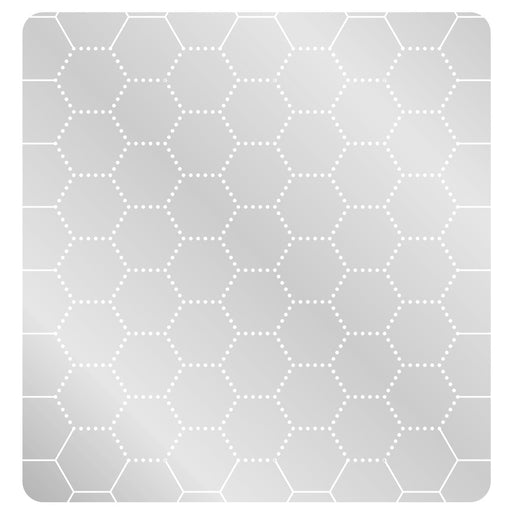 LITKO 1.5-inch Hex Grid Stencil, Dot Pattern - LITKO Game Accessories