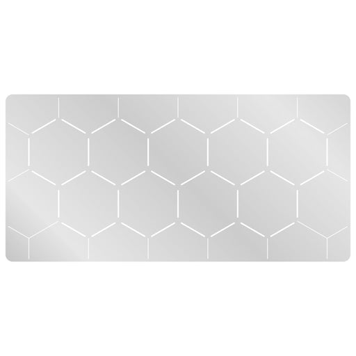 LITKO 4-inch Hex Grid Stencil, Edge Pattern - LITKO Game Accessories
