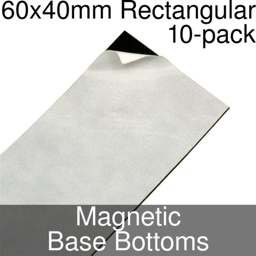 Miniature Base Bottoms, Rectangular, 60x40mm, Magnet (10) - LITKO Game Accessories