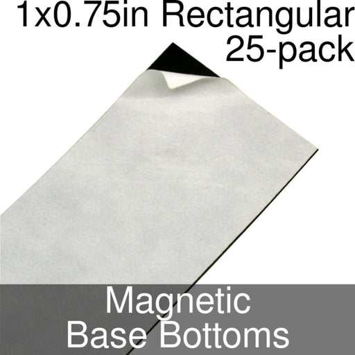 Miniature Base Bottoms, Rectangular, 1x0.75inch, Magnet (25) - LITKO Game Accessories