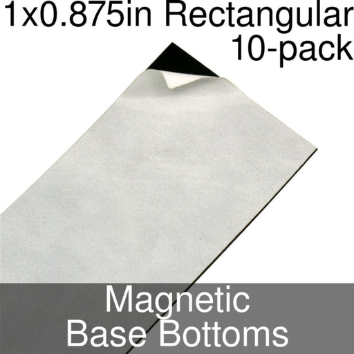 Miniature Base Bottoms, Rectangular, 1x0.875inch, Magnet (10) - LITKO Game Accessories