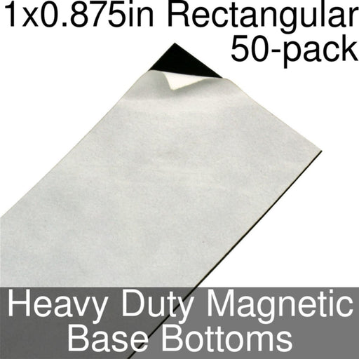 Miniature Base Bottoms, Rectangular, 1x0.875inch, Heavy Duty Magnet (50) - LITKO Game Accessories