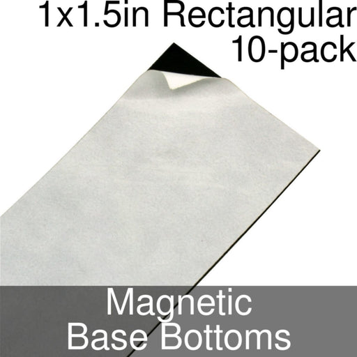 Miniature Base Bottoms, Rectangular, 1x1.5inch, Magnet (10) - LITKO Game Accessories