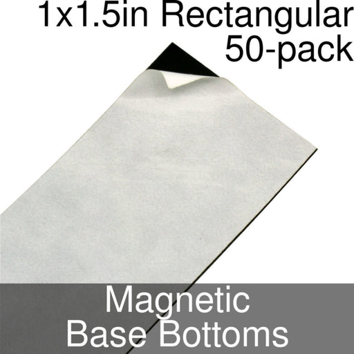 Miniature Base Bottoms, Rectangular, 1x1.5inch, Magnet (50) - LITKO Game Accessories