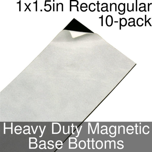 Miniature Base Bottoms, Rectangular, 1x1.5inch, Heavy Duty Magnet (10) - LITKO Game Accessories
