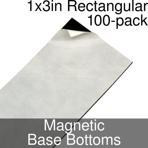 Miniature Base Bottoms, Rectangular, 1x3inch, Magnet (100) - LITKO Game Accessories