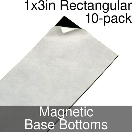 Miniature Base Bottoms, Rectangular, 1x3inch, Magnet (10) - LITKO Game Accessories