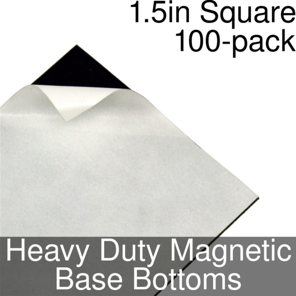 Miniature Base Bottoms, Square, 1.5inch, Heavy Duty Magnet (100) - LITKO Game Accessories