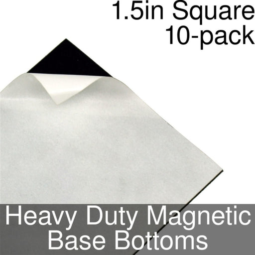 Miniature Base Bottoms, Square, 1.5inch, Heavy Duty Magnet (10) - LITKO Game Accessories