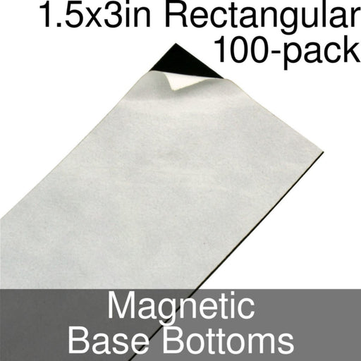 Miniature Base Bottoms, Rectangular, 1.5x3inch, Magnet (100) - LITKO Game Accessories