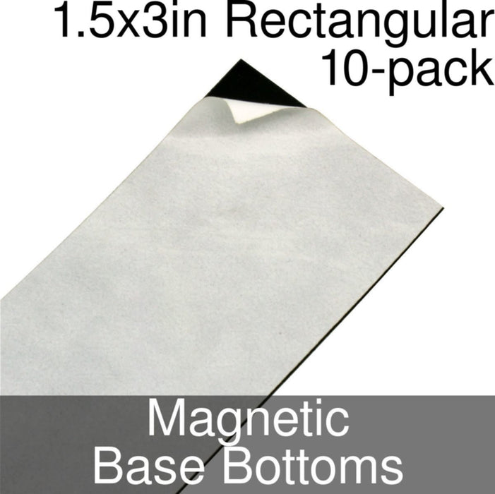 Miniature Base Bottoms, Rectangular, 1.5x3inch, Magnet (10) - LITKO Game Accessories