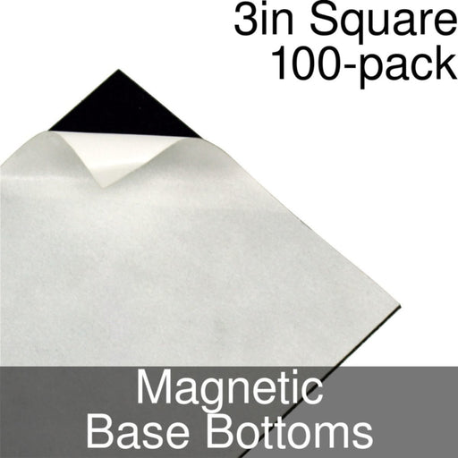 Miniature Base Bottoms, Square, 3inch, Magnet (100) - LITKO Game Accessories