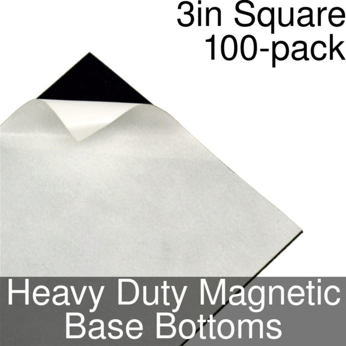 Miniature Base Bottoms, Square, 3inch, Heavy Duty Magnet (100) - LITKO Game Accessories