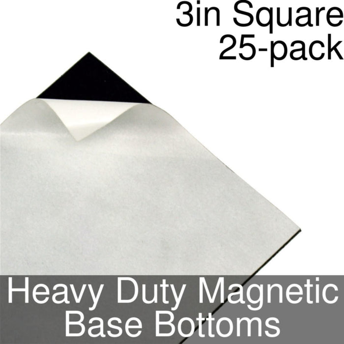 Miniature Base Bottoms, Square, 3inch, Heavy Duty Magnet (25) - LITKO Game Accessories