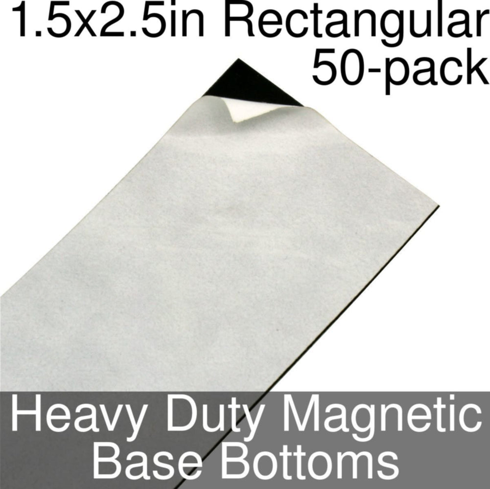 Miniature Base Bottoms, Rectangular, 1.5x2.5inch, Heavy Duty Magnet (50) - LITKO Game Accessories
