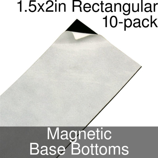 Miniature Base Bottoms, Rectangular, 1.5x2inch, Magnet (10) - LITKO Game Accessories