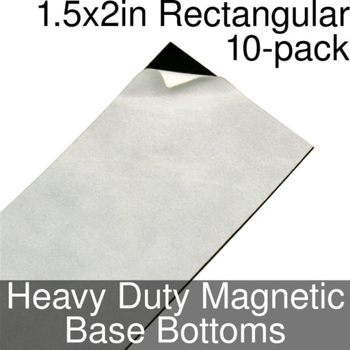 Miniature Base Bottoms, Rectangular, 1.5x2inch, Heavy Duty Magnet (10) - LITKO Game Accessories
