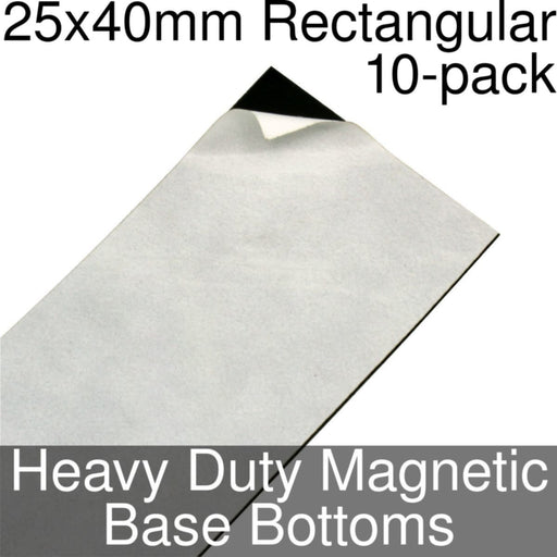 Miniature Base Bottoms, Rectangular, 25x40mm, Heavy Duty Magnet (10) - LITKO Game Accessories