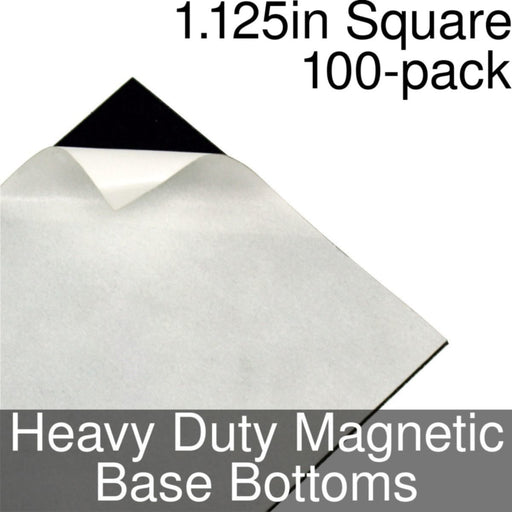 Miniature Base Bottoms, Square, 1.125inch, Heavy Duty Magnet (100) - LITKO Game Accessories