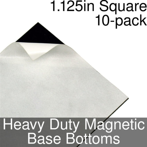Miniature Base Bottoms, Square, 1.125inch, Heavy Duty Magnet (10) - LITKO Game Accessories