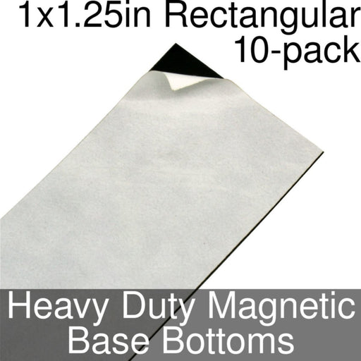Miniature Base Bottoms, Rectangular, 1x1.25inch, Heavy Duty Magnet (10) - LITKO Game Accessories