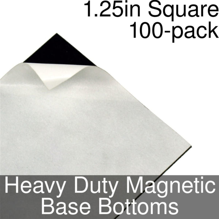 Miniature Base Bottoms, Square, 1.25inch, Heavy Duty Magnet (100) - LITKO Game Accessories