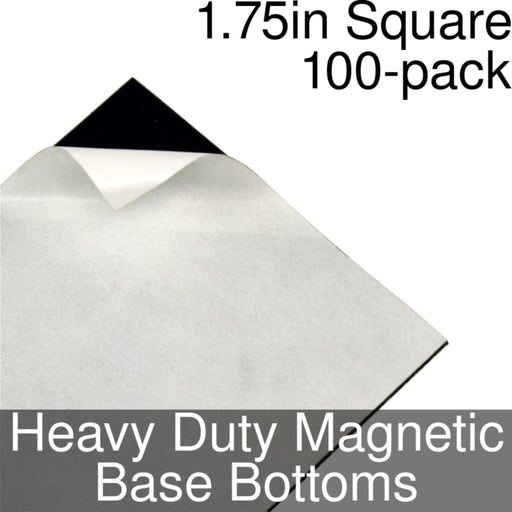Miniature Base Bottoms, Square, 1.75inch, Heavy Duty Magnet (100) - LITKO Game Accessories