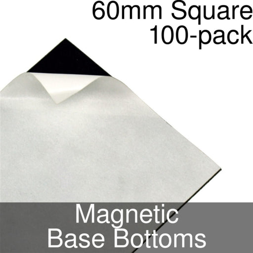 Miniature Base Bottoms, Square, 60mm, Magnet (100) - LITKO Game Accessories