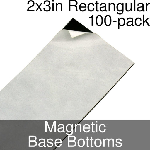 Miniature Base Bottoms, Rectangular, 2x3inch, Magnet (100) - LITKO Game Accessories