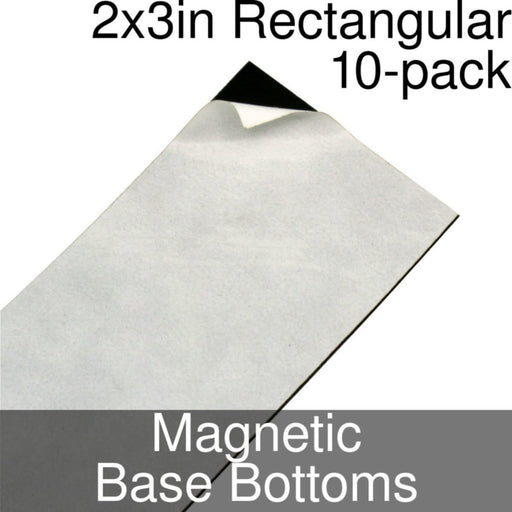 Miniature Base Bottoms, Rectangular, 2x3inch, Magnet (10) - LITKO Game Accessories