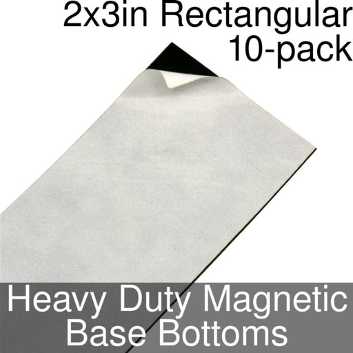 Miniature Base Bottoms, Rectangular, 2x3inch, Heavy Duty Magnet (10) - LITKO Game Accessories
