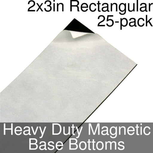 Miniature Base Bottoms, Rectangular, 2x3inch, Heavy Duty Magnet (25) - LITKO Game Accessories