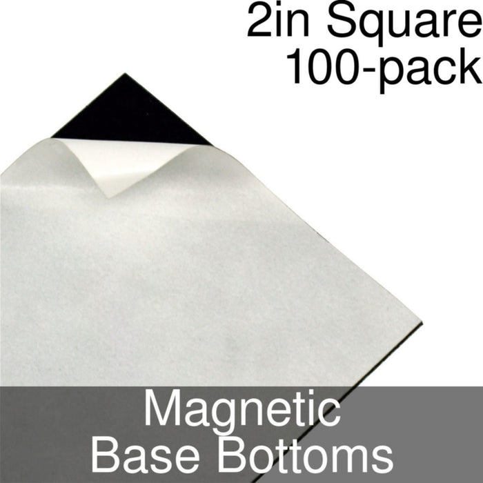 Miniature Base Bottoms, Square, 2inch, Magnet (100) - LITKO Game Accessories