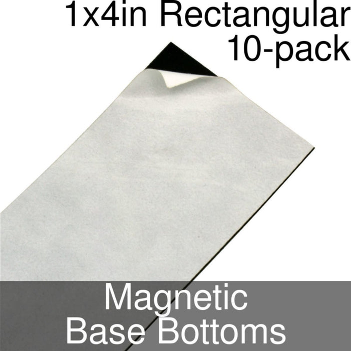 Miniature Base Bottoms, Rectangular, 1x4inch, Magnet (10) - LITKO Game Accessories