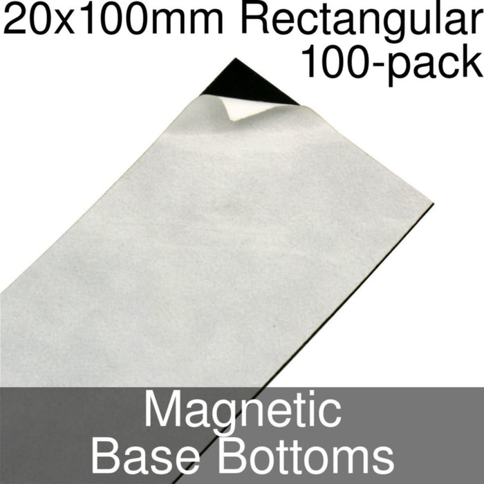 Miniature Base Bottoms, Rectangular, 20x100mm, Magnet (100) - LITKO Game Accessories