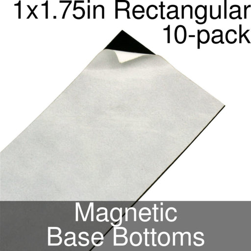Miniature Base Bottoms, Rectangular, 1x1.75inch, Magnet (10) - LITKO Game Accessories