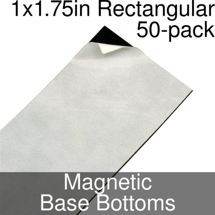 Miniature Base Bottoms, Rectangular, 1x1.75inch, Magnet (50) - LITKO Game Accessories