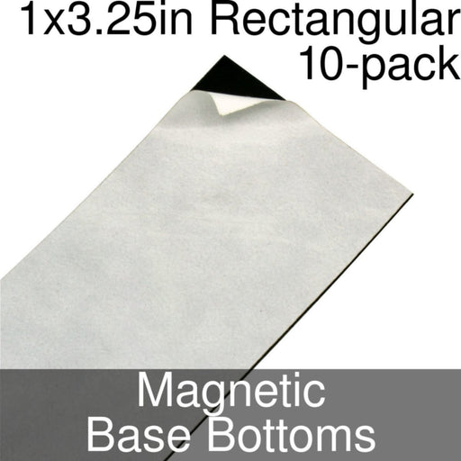 Miniature Base Bottoms, Rectangular, 1x3.25inch, Magnet (10) - LITKO Game Accessories