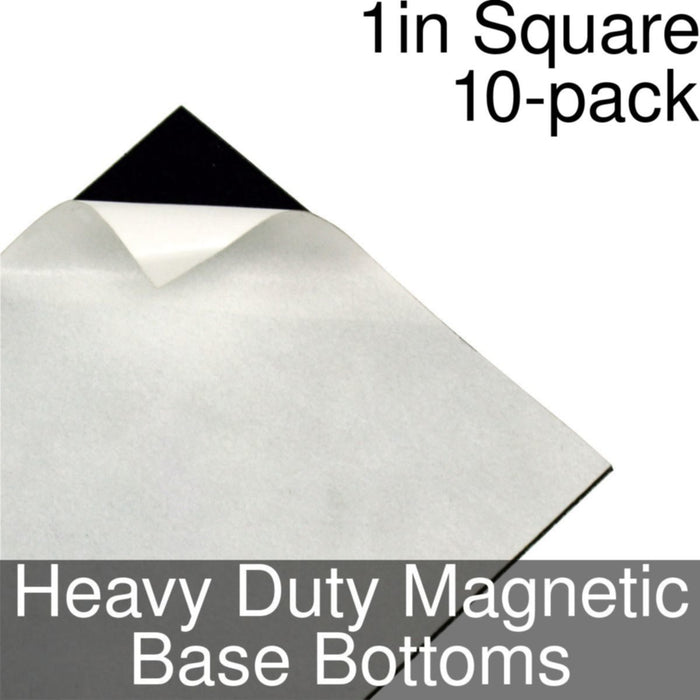 Miniature Base Bottoms, Square, 1inch, Heavy Duty Magnet (10) - LITKO Game Accessories