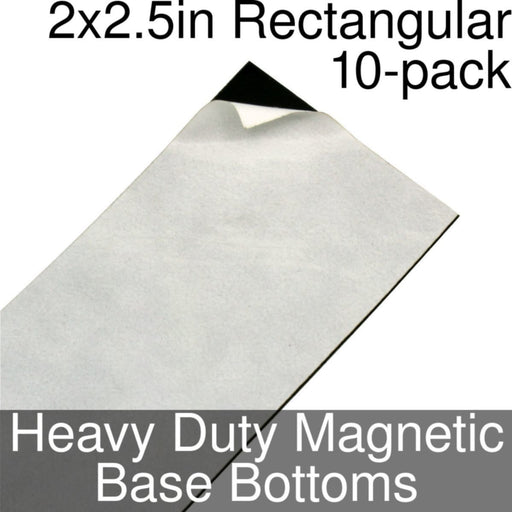 Miniature Base Bottoms, Rectangular, 2x2.5inch, Heavy Duty Magnet (10) - LITKO Game Accessories