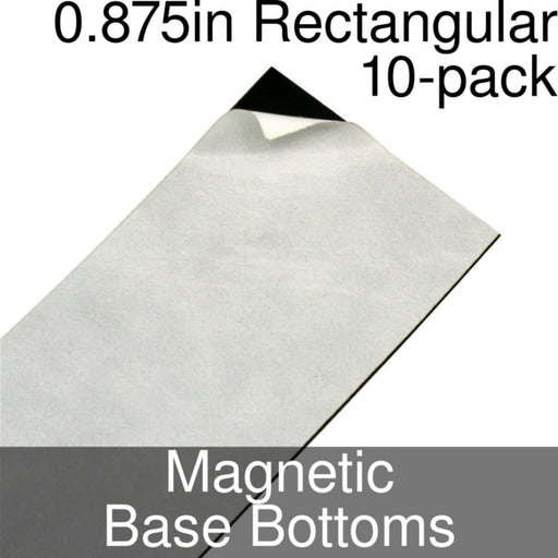 Miniature Base Bottoms, Rectangular, 0.875inch, Magnet (10) - LITKO Game Accessories