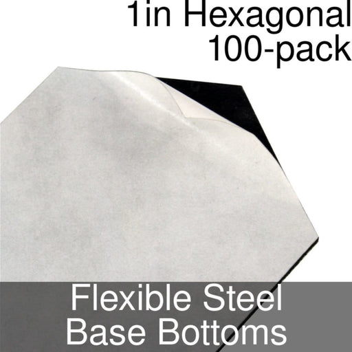 Miniature Base Bottoms, Hexagonal, 1inch, Flexible Steel (100) - LITKO Game Accessories