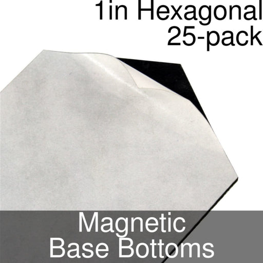 Miniature Base Bottoms, Hexagonal, 1inch, Magnet (25) - LITKO Game Accessories