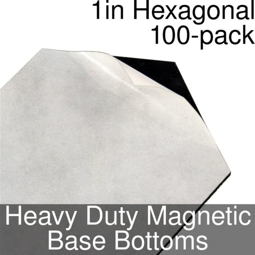 Miniature Base Bottoms, Hexagonal, 1inch, Heavy Duty Magnet (100) - LITKO Game Accessories