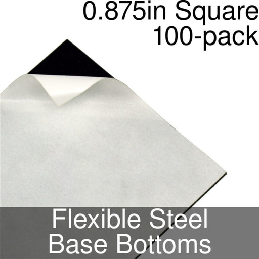 Miniature Base Bottoms, Square, 0.875inch, Flexible Steel (100) - LITKO Game Accessories