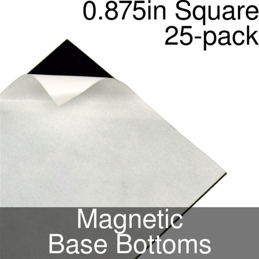 Miniature Base Bottoms, Square, 0.875inch, Magnet (25) - LITKO Game Accessories